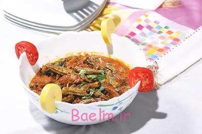 آموزش آشپزی عربی،خورش بامیه عربی،خورش بامیه