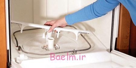 تمیز کردن ماشین ظرفشویی,تمیزکردن محل تخلیه آب ماشین ظرفشویی
