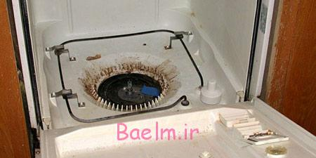 نحوه تمیز کردن ماشین ظرفشویی,محل تخلیه آب ماشین ظرفشویی