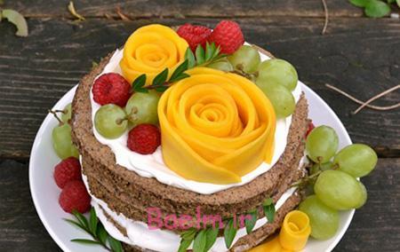 تصاویر تزیین کیک با میوه,مدل های تزیین کیک با میوه