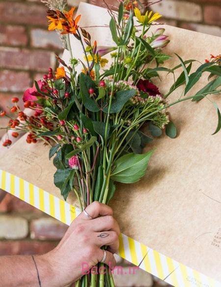 آموزش مرحله ای تزیین دسته گل در خانه, نحوه تزیین کردن دسته گل