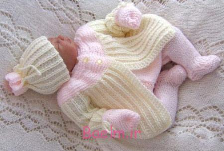 مدل لباس بافتنی دخترانه, سرهمی های بافتنی نوزادی