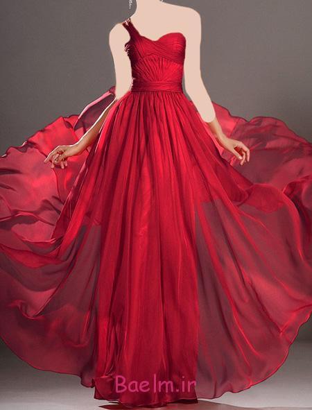 مدل لباس شب زنانه,لباس مجلسی قرمز
