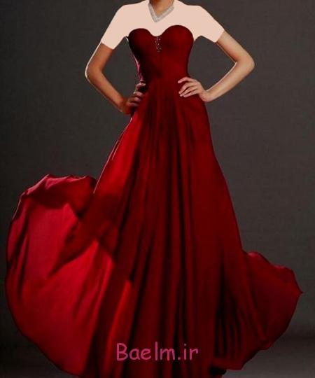 جدیدترین لباس های مجلسی زنانه,مدل لباس قرمز