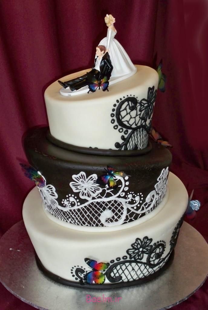 تزیین فانتزی کیک عروسی