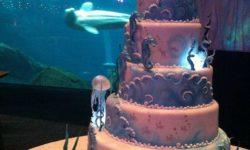 """مدل جدید کیک عروسی و تولد   تزیینات شیک """"کیک"""" چند طبقه """"تم آبی"""""""