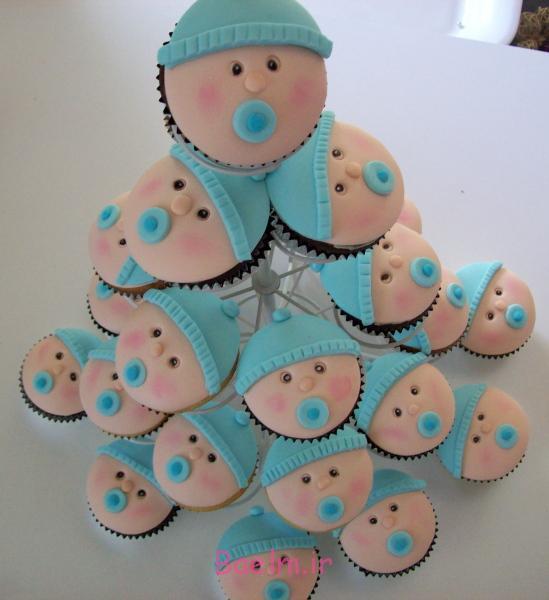 """""""مدل کیک"""" تولد نوزاد پسر   زیباترین تزیین کیک برای """"تولد نوزاد پسر"""""""