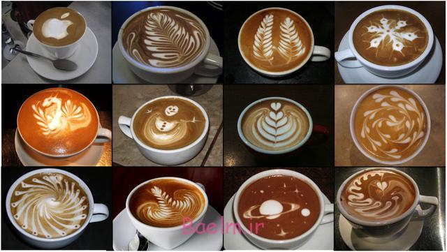 تزیین نسکافه و قهوه ترک ، طراحی قهوه اسپرسو