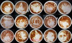 تزیین قهوه با شیر و خامه   طراحی مجلسی قهوه و اسپرسو