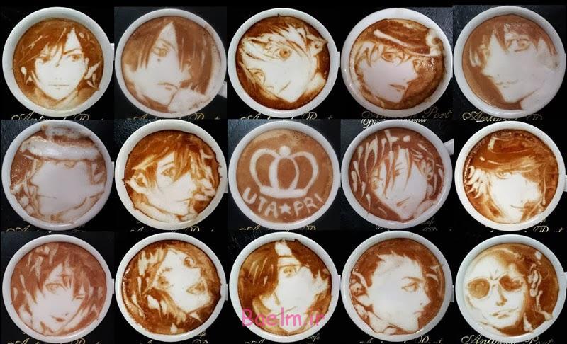 تزیین قهوه با شیر و خامه