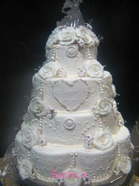 شیک ترین تزیینات کیک عروسی | تزیین مجلسی و زیبا با گل