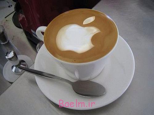 طراحی و تزیین قهوه اسپرسو   تزیین مجلسی قهوه با شیر و خامه