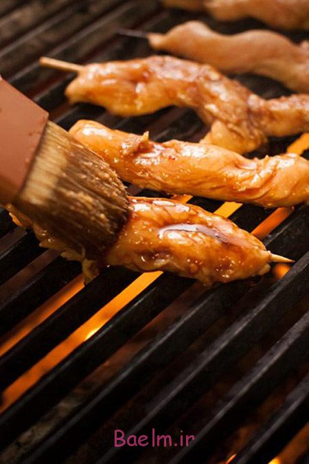 طرز تهیه کباب ساتای, طرز پخت ساتای مرغ مزه دار شده