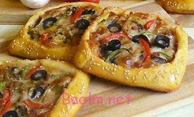 پیتزا پیراشکی گیاهی ،مواد لازم برای پیتزا پیراشکی گیاهی, پخت پیتزا پیراشکی گیاهی