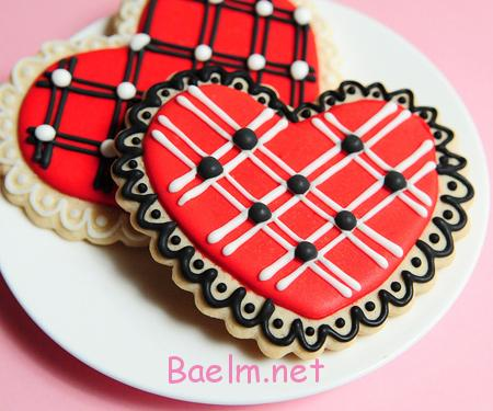 تزیین کوکی و شیرینی روز عشق ,مدل های تزیین کوکی