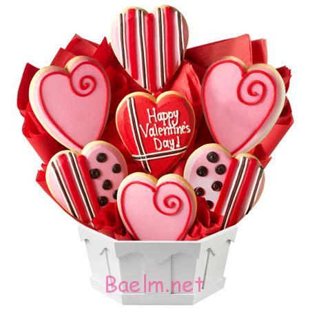 تزیین کوکی و شیرینی روز عشق , مدل تزیین شیرینی روز عشق