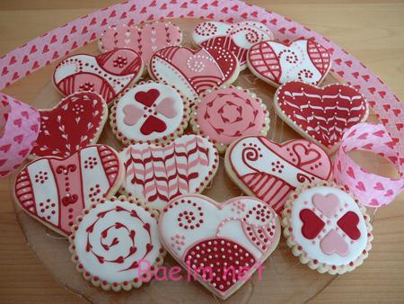 شیرینی های روز عشق, تزیین شیرینی های روز عشق