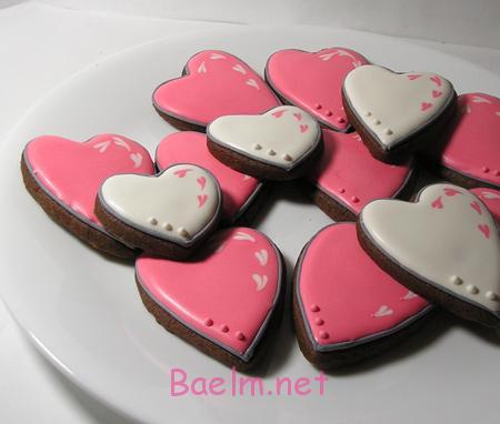 تزیین شیرینی های روز عشق,کوکی روز روز عشق