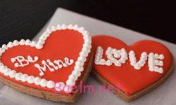 تزیین کوکی و شیرینی به شکل قلب   مدل تزیین کوکی های عاشقانه
