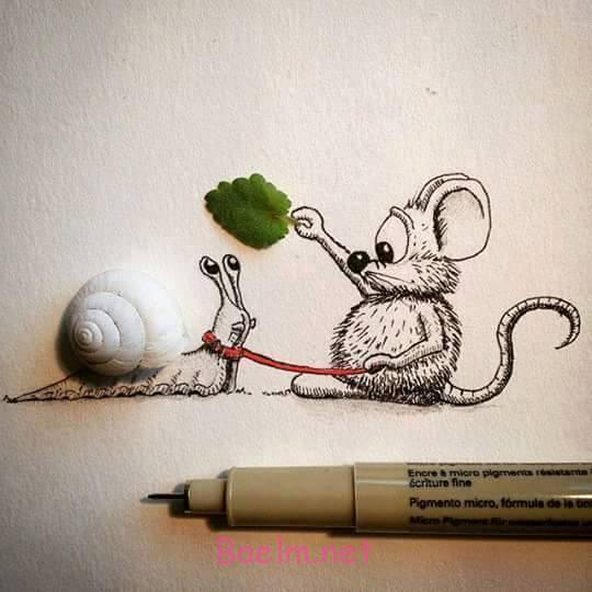 """هنرنمایی خلاقانه با نقاشی موش   بازی با """"نقاشی موش""""   عکسهای بسیار جالب"""