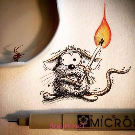 هنرنمایی خلاقانه با نقاشی موش ، ایده های بسیار بامزه برای نقاشی