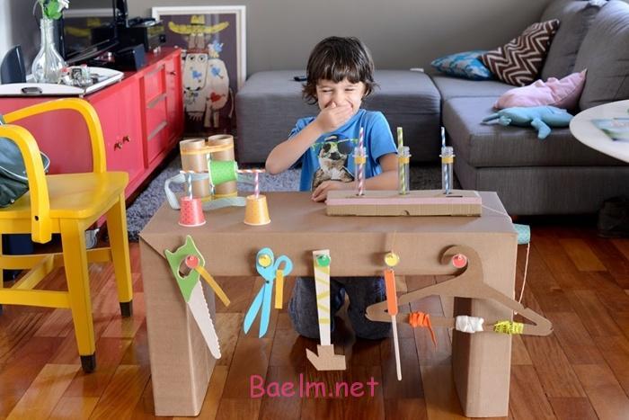 مدل اسباب بازی و کاردستی با کارتن ، ایده جالب ساخت کاردستی