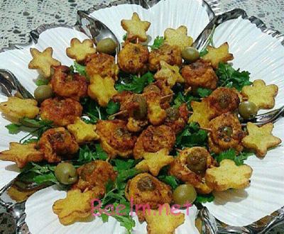 رول مرغ با سبزیجات ,نحوه درست کردن رول مرغ انگشتی با سبزیجات