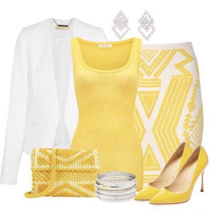 ست کردن لباس زرد با رنگ های مختلف - ست زنانه و دخترانه شیک
