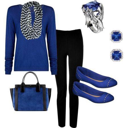 ست کردن لباس آبی - ست زنانه و دخترانه مجلسی شیک