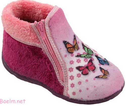 کفش پارچه ای بچه گانه زیپ دار - دخترانه