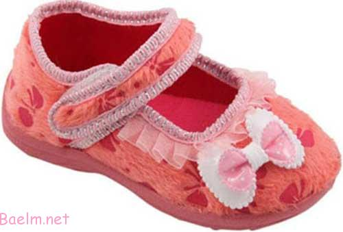 کفش بچه گانه با رونگ گلبهی روشن - دخترانه