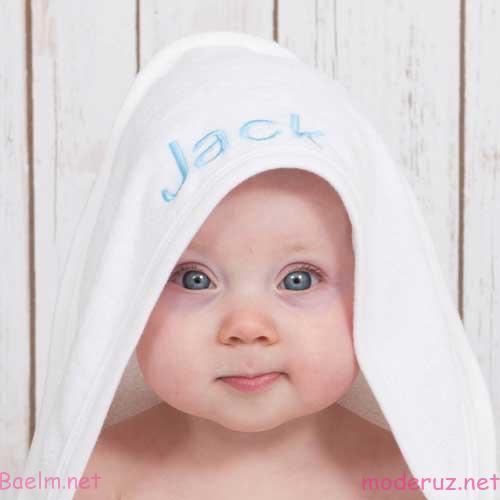 شنل حوله نوزاد رنگ سفید - حوله حمام نوزاد