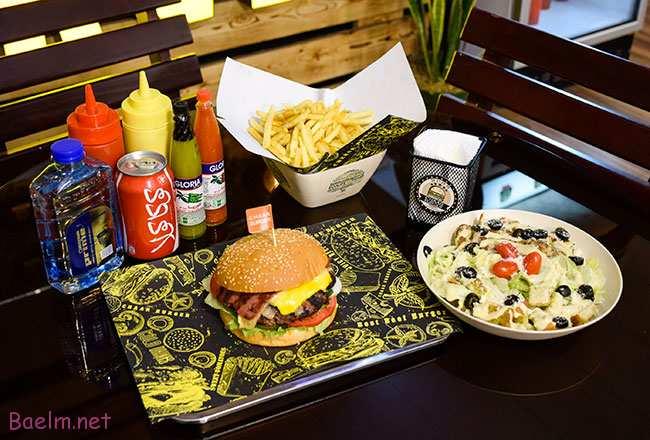 چاربرگر کرج - منوی غذاهای فست فود کرج