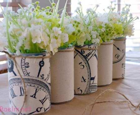 راهنمای ساخت گلدان بازیافتی,درست کردن گلدان با قوطی