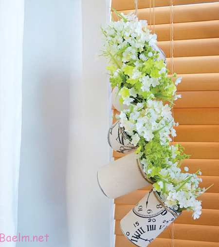 درست کردن گلدان با قوطی,ساخت گلدان با وسایل بازیافتی
