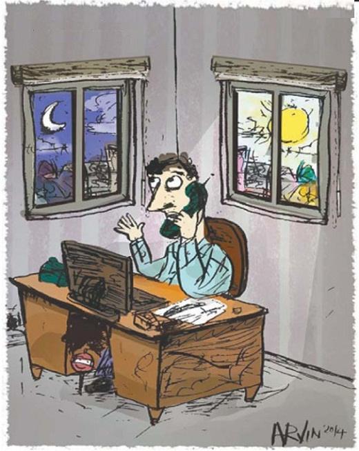 نتیجه تصویری برای کارمند کاریکاتور