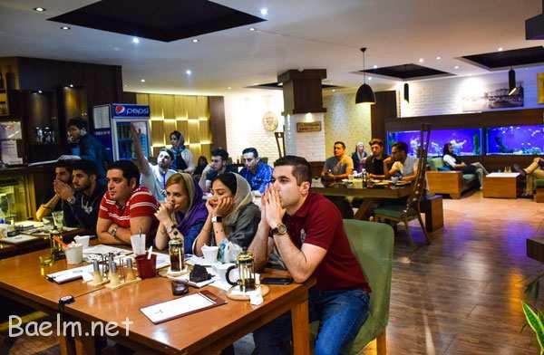 کافه های کرج | کافه رستوران برلیان ،برگر با طعم فوتبال !