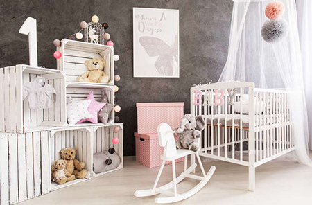 فنگ شویی اتاق نوزاد,فنگ شویی دکوراسیون اتاق نوزاد بهترین جهتها برای ننو یا گهواره