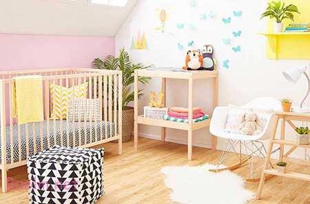 می توانید دکوراسیون اتاق را با تم باغ انجام دهید  طراحی اتاق نوزاد, دکوراسیون و چیدمان اتاق نوزاد