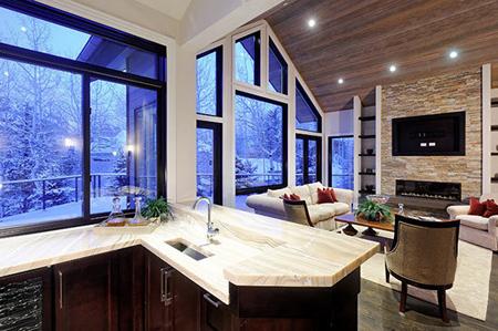 روشنایی فضای آشپزخانه,دکوراسیون خانه روشن