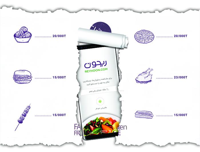 ریحون، یک سامانه سفارش آنلاین غذا است
