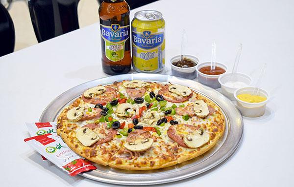 پیتزا کمبو ، از نظر اندازه برای دو نفر کافیه