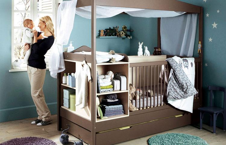 تخت چندمنظوره نوزاد