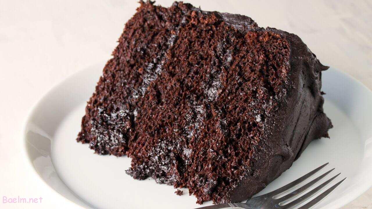 کیک شکلاتی بدون تخم مرغ با شیر | طرز تهیه کیک شکلاتی خانگی