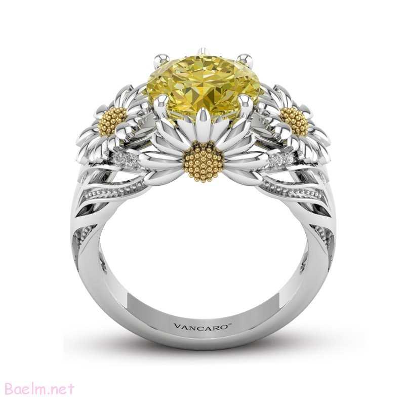 حلقه نامزدی مدل گل - بسیار زیبا و شیک