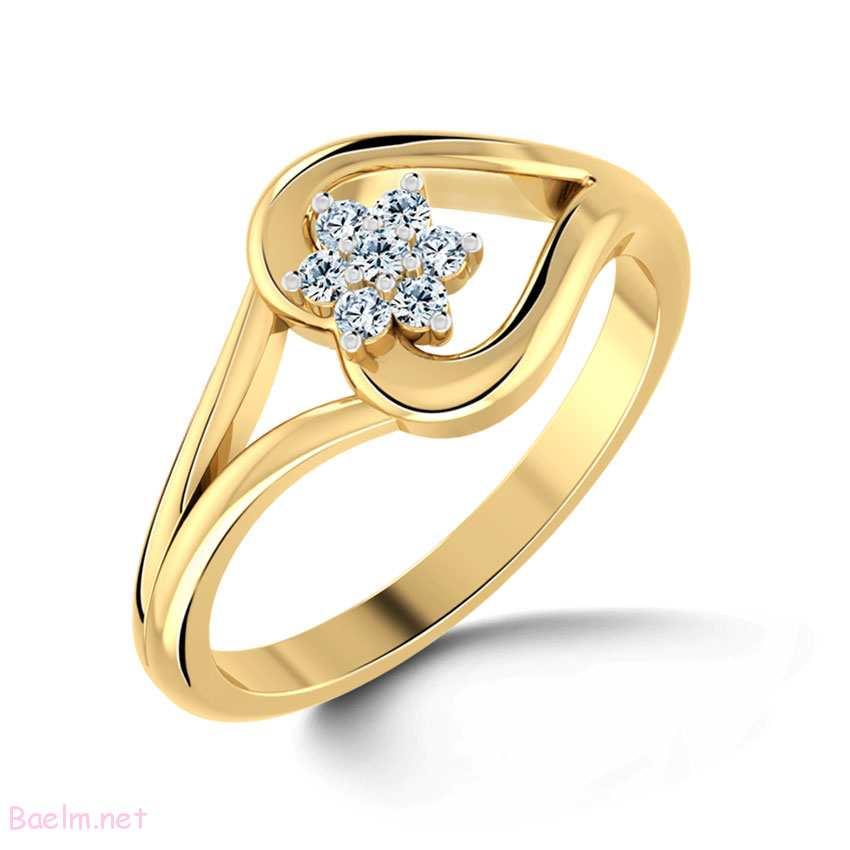 حلقه نامزدی مدل جدید به شکل قلب