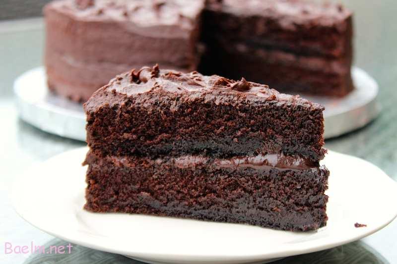 کیک شکلاتی بدون شیر و تخم مرغ