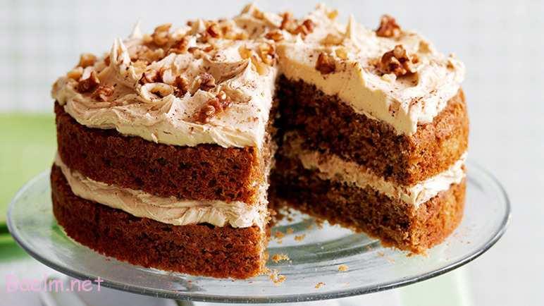 نحوه پخت کیک گردویی ,دستور تهیه کیک با گردو