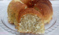 کیک خانگی با تخم خرفه | طرز تهیه کیک خرفه زعفرانی