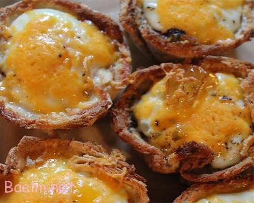 دستور پخت مافین خوشمزه با تخم مرغ و سوسیس